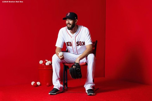 FT. MYERS, FL - FEBRUARY 19: Rick Porcello #22 of the Boston Red Sox poses for a portrait on team photo day on February 19, 2019 at JetBlue Park at Fenway South in Fort Myers, Florida. (Photo by Billie Weiss/Boston Red Sox/Getty Images) *** Local Caption *** Rick Porcello
