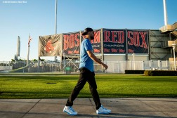 FT. MYERS, FL - FEBRUARY 27: Matt Barnes #32 of the Boston Red Sox arrives before a game against the Baltimore Orioles on February 27, 2019 at JetBlue Park at Fenway South in Fort Myers, Florida. (Photo by Billie Weiss/Boston Red Sox/Getty Images) *** Local Caption *** Matt Barnes