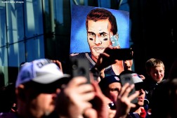 BOSTON, MASSACHUSETTS - FEBRUARY 05: Fans display a sign of Tom Brady #12 during the New England Patriots Super Bowl Victory Parade on February 05, 2019 in Boston, Massachusetts. (Photo by Billie Weiss/Getty Images)