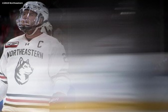 March 23, 2019, Boston, MA: The Northeastern University Huskies face the Boston College Eagles in the 2019 Hockey East Championship at TD Garden in Boston, Massachusetts Saturday, March 23, 2019. (Photo by Billie Weiss/Northeastern University)
