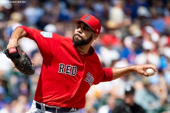 MESA, AZ - MARCH 26: David Price #10 of the Boston Red Sox delivers during the first inning of a spring training game against the Chicago Cubs on March 26, 2019 at Sloan Park in Mesa, Arizona. (Photo by Billie Weiss/Boston Red Sox/Getty Images) *** Local Caption *** David Price
