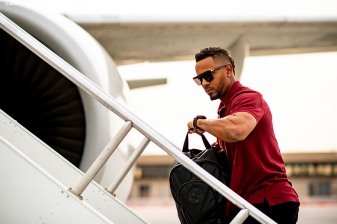 MESA, AZ - MARCH 26: Xander Bogaerts #2 of the Boston Red Sox boards the plane as the team travels from Mesa, Arizona to Seattle, Washington on March 26, 2019. (Photo by Billie Weiss/Boston Red Sox/Getty Images) *** Local Caption *** Xander Bogaerts