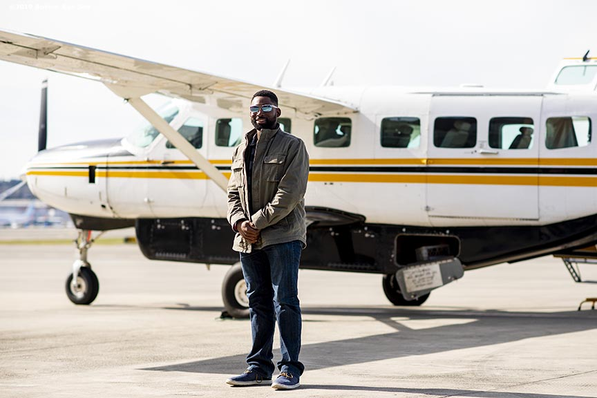 SEATTLE, WA - MARCH 27: Jackie Bradley Jr. #19 of the Boston Red Sox poses for a portrait after a charter flight over Mount Rainier in Seattle, Washington on March 27, 2019. (Photo by Billie Weiss/Boston Red Sox/Getty Images) *** Local Caption *** Jackie Bradley Jr.