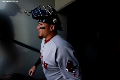 SEATTLE, WA - MARCH 28: Christian Vazquez #7 of the Boston Red Sox walks out of the tunnel before the 2019 Opening day game against the Seattle Mariners at T-Mobile Park in Seattle, Washington on March 28, 2019. (Photo by Billie Weiss/Boston Red Sox/Getty Images) *** Local Caption *** Christian Vazquez
