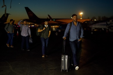 MESA, AZ - MARCH 26: Members of the Boston Red Sox arrive in Seattle, Washington on March 26, 2019. (Photo by Billie Weiss/Boston Red Sox/Getty Images) *** Local Caption *** David Price; Chris Sale; Rick Porcello