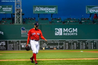 BOSTON, MA - APRIL 12: Eduardo Rodriguez #57 of the Boston Red Sox walks off the field during the first inning of a game against the Baltimore Orioles on April 12, 2019 at Fenway Park in Boston, Massachusetts. (Photo by Billie Weiss/Boston Red Sox/Getty Images) *** Local Caption *** Eduardo Rodriguez