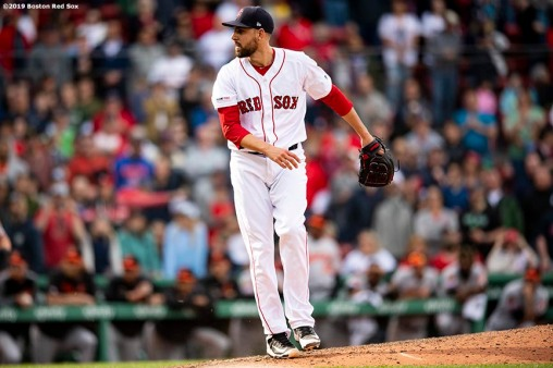BOSTON, MA - APRIL 14: Matt Barnes #32 of the Boston Red Sox celebrates a victory against the Baltimore Orioles on April 14, 2019 at Fenway Park in Boston, Massachusetts. (Photo by Billie Weiss/Boston Red Sox/Getty Images) *** Local Caption *** Matt Barnes