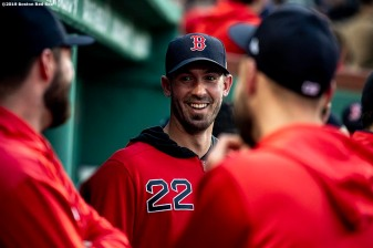 BOSTON, MA - APRIL 24: Rick Porcello #22 of the Boston Red Sox reacts before a game against the Detroit Tigers on April 24, 2019 at Fenway Park in Boston, Massachusetts. (Photo by Billie Weiss/Boston Red Sox/Getty Images) *** Local Caption *** Rick Porcello