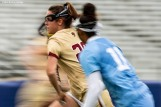 April 28, 2019 , Chestnut Hill, MA: Brooke Troy #28 of Boston College handles the ball during the first half of the 2019 Women's Lacrosse ACC Championship game against the University of North Carolina at Alumni Stadium in Chestnut Hill, Massachusetts Sunday, April 28, 2019. (Photo by Billie Weiss/Boston College)