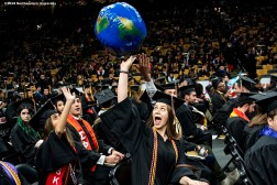 05/03/19 - BOSTON, MA. - Northeastern University celebrated its 117th Commencement on May 3, 2019. President Joseph E. Aoun led the undergraduate ceremony, which was held at TD Garden in Boston. Tara Westover, the New York Times best-selling author of Educated, delivered the Commencement address. Northeastern conferred honorary degrees upon a distinguished group of influential figures: Amin J. Khoury, Eduardo J. Padrón, Beth Stevens, and Major General Cedric T. Wins. Photo by Billie Weiss for Northeastern University