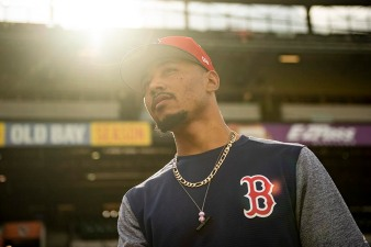 BALTIMORE, MD - MAY 7: Mookie Betts #50 of the Boston Red Sox looks on before a game against the Baltimore Orioles on May 7, 2019 at Oriole Park at Camden Yards in Baltimore, Maryland. (Photo by Billie Weiss/Boston Red Sox/Getty Images) *** Local Caption *** Mookie Betts