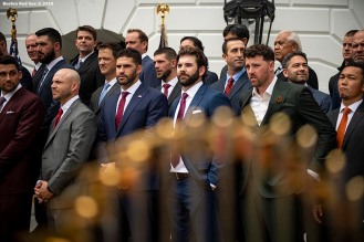 WASHINGTON, DC - MAY 9: Members of the Boston Red Sox participate in a rehearsal during a visit to the White House in recognition of the 2018 World Series championship on May 9, 2019 in Washington, DC. (Photo by Billie Weiss/Boston Red Sox/Getty Images) *** Local Caption ***