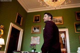 WASHINGTON, DC - MAY 9: Nathan Eovaldi #17 of the Boston Red Sox takes a tour during a visit to the White House in recognition of the 2018 World Series championship on May 9, 2019 in Washington, DC. (Photo by Billie Weiss/Boston Red Sox/Getty Images) *** Local Caption *** Nathan Eovaldi