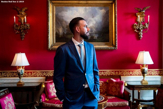 WASHINGTON, DC - MAY 9: Matt Barnes #32 of the Boston Red Sox takes a tour during a visit to the White House in recognition of the 2018 World Series championship on May 9, 2019 in Washington, DC. (Photo by Billie Weiss/Boston Red Sox/Getty Images) *** Local Caption *** Matt Barnes