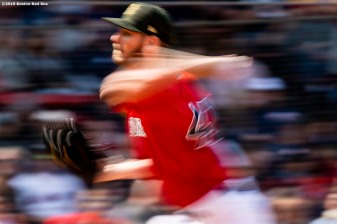 BOSTON, MA - MAY 19: Chris Sale #41 of the Boston Red Sox delivers during the fourth inning of a game against the Houston Astros on May 19, 2019 at Fenway Park in Boston, Massachusetts. (Photo by Billie Weiss/Boston Red Sox/Getty Images) *** Local Caption *** Chris Sale