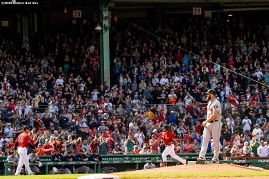 BOSTON, MA - MAY 19: Michael Chavis #23 of the Boston Red Sox rounds the bases after hitting a solo home run during the fifth inning of a game against the Houston Astros on May 19, 2019 at Fenway Park in Boston, Massachusetts. (Photo by Billie Weiss/Boston Red Sox/Getty Images) *** Local Caption *** Michael Chavis