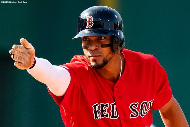 BOSTON, MA - MAY 19: Xander Bogaerts #2 of the Boston Red Sox reacts after hitting a go ahead RBI double during the seventh inning of a game against the Houston Astros on May 19, 2019 at Fenway Park in Boston, Massachusetts. (Photo by Billie Weiss/Boston Red Sox/Getty Images) *** Local Caption *** Xander Bogaerts