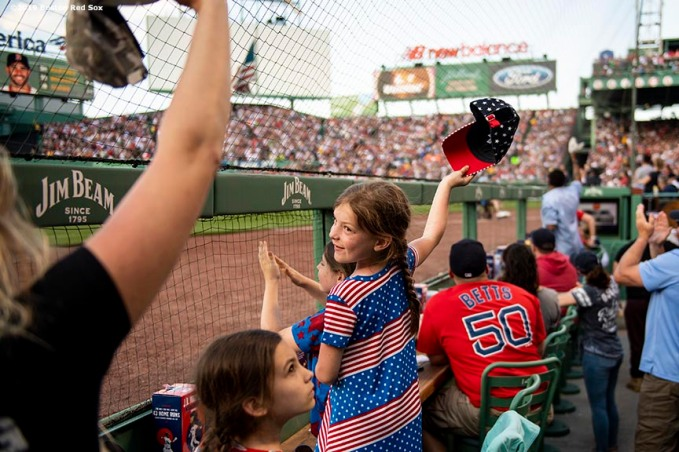 BOSTON, MA - MAY 27: A young fan reacts during a game between the Boston Red Sox and the Cleveland Indians on May 27, 2019 at Fenway Park in Boston, Massachusetts. (Photo by Billie Weiss/Boston Red Sox/Getty Images) *** Local Caption ***