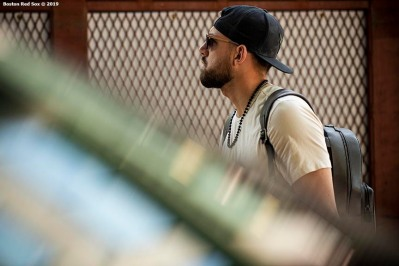 BOSTON, MA - JUNE 7: Matt Barnes #32 of the Boston Red Sox arrives before a game against the Tampa Bay Rays on June 7, 2019 at Fenway Park in Boston, Massachusetts. (Photo by Billie Weiss/Boston Red Sox/Getty Images) *** Local Caption *** Matt Barnes