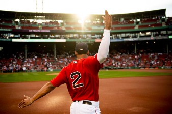 BOSTON, MA - JUNE 7: Xander Bogaerts #2 of the Boston Red Sox warms up before a game against the Tampa Bay Rays on June 7, 2019 at Fenway Park in Boston, Massachusetts. (Photo by Billie Weiss/Boston Red Sox/Getty Images) *** Local Caption *** Xander Bogaerts
