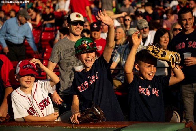 BOSTON, MA - JUNE 7: Fans cheer before a game between the Boston Red Sox and the Tampa Bay Rays on June 7, 2019 at Fenway Park in Boston, Massachusetts. (Photo by Billie Weiss/Boston Red Sox/Getty Images) *** Local Caption ***