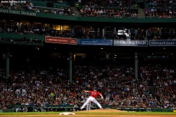 BOSTON, MA - JUNE 7: Mike Shawaryn #73 of the Boston Red Sox delivers during the eighth inning of a game against the Tampa Bay Rays on June 7, 2019 at Fenway Park in Boston, Massachusetts. It was his Major League debut. (Photo by Billie Weiss/Boston Red Sox/Getty Images) *** Local Caption *** Mike Shawaryn