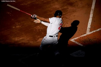 BOSTON, MA - JUNE 12: Xander Bogaerts #2 of the Boston Red Sox bats during the fifth inning of a game against the Texas Rangers on June 12, 2019 at Fenway Park in Boston, Massachusetts. (Photo by Billie Weiss/Boston Red Sox/Getty Images) *** Local Caption *** Xander Bogaerts