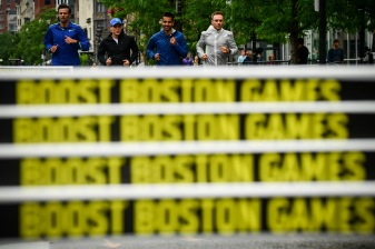 June 16, 2019 , Boston, MA: The Adidas Boost Boston Games are held in Copley Square in Boston, Massachusetts Sunday, June 16, 2019. (Photo by Billie Weiss/Adidas Boost Boston Games)
