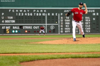 BOSTON, MA - JUNE 21: Chris Sale #41 of the Boston Red Sox delivers during the first inning of a game against the Toronto Blue Jays on June 21, 2019 at Fenway Park in Boston, Massachusetts. (Photo by Billie Weiss/Boston Red Sox/Getty Images) *** Local Caption *** Chris Sale