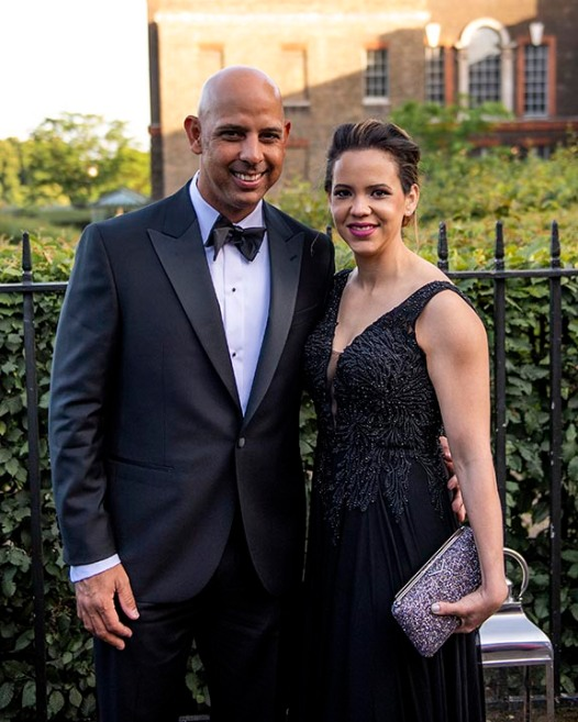 LONDON, ENGLAND - JUNE 27: Boston Red Sox Manager Alex Cora and his girlfriend Angelica pose for a photograph during the Mission Gratitude Gala in Cooperation with Home Base and the Red Sox Foundation ahead of the 2019 Major League Baseball London Series on June 27, 2019 at Kensington Palace in London, England. (Photo by Billie Weiss/Boston Red Sox/Getty Images) *** Local Caption *** Angelica Cora; Alex Cora