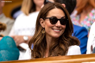 July 2, 2019 , Wimbledon, England: Catherine, Duchess of Cambridge attends the 2019 Championships Wimbledon at the All England Lawn Tennis Club in Wimbledon, England Tuesday, July 2, 2019. (Photo by Billie Weiss/Wimbledon)