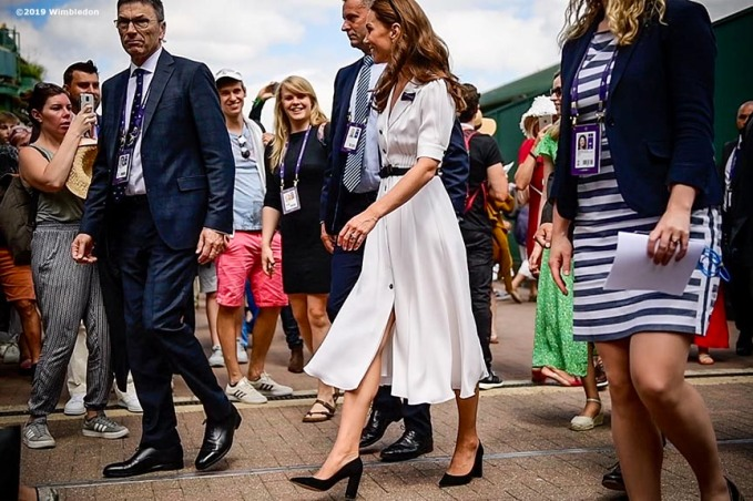 July 2, 2019 , Wimbledon, England: Catherine, Duchess of Cambridge attends day 2 of the 2019 Championships Wimbledon at the All England Lawn Tennis Club in Wimbledon, England Tuesday, July 2, 2019. (Photo by Billie Weiss/Wimbledon)