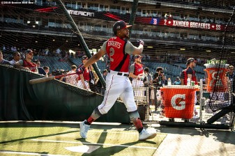CLEVELAND, OH - JULY 09: Xander Bogaerts #2 of the Boston Red Sox takes batting practice before the 2019 Major League Baseball All-Star Game at Progressive Field on July 9, 2019 in Cleveland, Ohio. (Photo by Billie Weiss/Boston Red Sox/Getty Images) *** Local Caption *** Xander Bogaerts