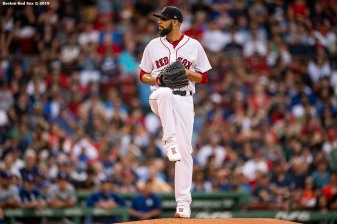 BOSTON, MA - JULY 14: David Price #10 of the Boston Red Sox delivers during the first inning of a game against the Los Angeles Dodgers on July 14, 2019 at Fenway Park in Boston, Massachusetts. (Photo by Billie Weiss/Boston Red Sox/Getty Images) *** Local Caption *** David Price