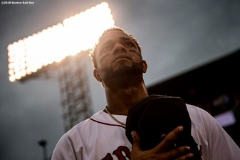 BOSTON, MA - JULY 17: Xander Bogaerts #2 of the Boston Red Sox looks on before a game against the Toronto Blue Jays on July 17, 2019 at Fenway Park in Boston, Massachusetts. (Photo by Billie Weiss/Boston Red Sox/Getty Images) *** Local Caption *** Xander Bogaerts