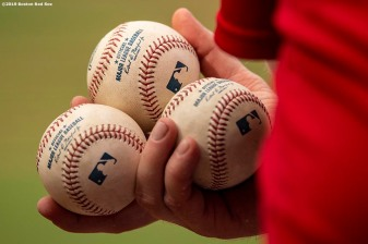 BOSTON, MA - JULY 27: Baseballs are shown during a game between the Boston Red Sox and the New York Yankees on July 27, 2019 at Fenway Park in Boston, Massachusetts. (Photo by Billie Weiss/Boston Red Sox/Getty Images) *** Local Caption ***