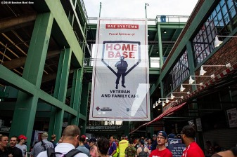July 27, 2019 , Boston, MA: Signage is displayed during the 2019 Run to Home Base presented by New Balance at Fenway Park in Boston, Massachusetts Saturday, July 27, 2019. (Photo by Billie Weiss/Home Base)