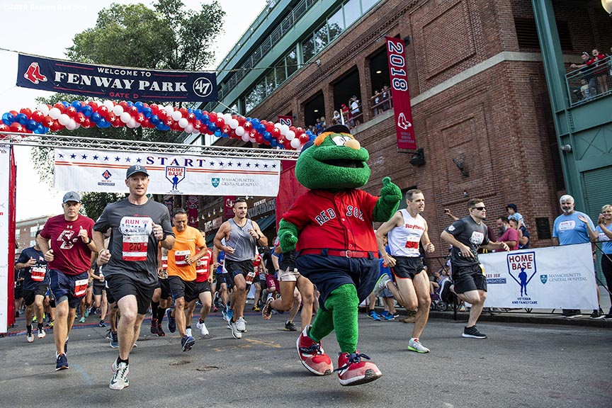 July 27, 2019 , Boston, MA: Runners start during the 2019 Run to Home Base presented by New Balance at Fenway Park in Boston, Massachusetts Saturday, July 27, 2019. (Photo by Billie Weiss/Home Base)