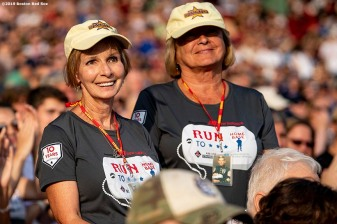 July 27, 2019 , Boston, MA: Gold Star families are recognized during the 2019 Run to Home Base presented by New Balance at Fenway Park in Boston, Massachusetts Saturday, July 27, 2019. (Photo by Billie Weiss/Home Base)