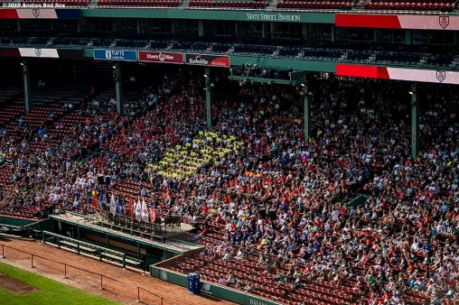 July 27, 2019 , Boston, MA: Runners attend the 2019 Run to Home Base presented by New Balance at Fenway Park in Boston, Massachusetts Saturday, July 27, 2019. (Photo by Billie Weiss/Home Base)