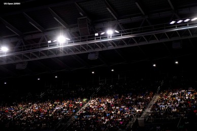 August 29, 2019, New York City, NY: Fans look on on Louis Armstrong Stadium during the 2019 US Open Tennis Championships at the Billie Jean King National Tennis Center in New York, New York Thursday, August 29, 2019. (Photo by Billie Weiss/US Open Tennis Championships)
