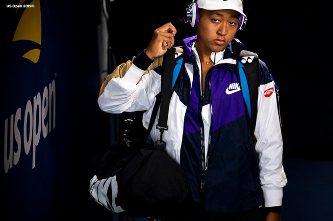 August 29, 2019, New York City, NY: Naomi Osaka waits in the tunnel before a match against Magda Linette during the 2019 US Open Tennis Championships at the Billie Jean King National Tennis Center in New York, New York Thursday, August 29, 2019. (Photo by Billie Weiss/US Open Tennis Championships)