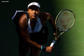 August 29, 2019, New York City, NY: Naomi Osaka in action during a match against Magda Linette the 2019 US Open Tennis Championships at the Billie Jean King National Tennis Center in New York, New York Thursday, August 29, 2019. (Photo by Billie Weiss/US Open Tennis Championships)