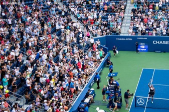 August 29, 2019, New York City, NY: Naomi Osaka salutes the crowd after a victory in a match against Magda Linette the 2019 US Open Tennis Championships at the Billie Jean King National Tennis Center in New York, New York Thursday, August 29, 2019. (Photo by Billie Weiss/US Open Tennis Championships)