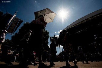 August 29, 2019, New York City, NY: Fans roam the grounds during the 2019 US Open Tennis Championships at the Billie Jean King National Tennis Center in New York, New York Thursday, August 29, 2019. (Photo by Billie Weiss/US Open Tennis Championships)