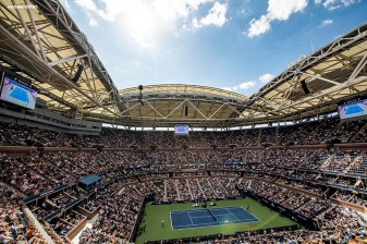 August 29, 2019, New York City, NY: A general view of Arthur Ashe Stadium during the 2019 US Open Tennis Championships at the Billie Jean King National Tennis Center in New York, New York Thursday, August 29, 2019. (Photo by Billie Weiss/US Open Tennis Championships)