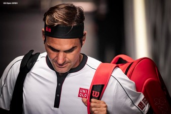August 30, 2019, New York City, NY: Roger Federer waits in the tunnel before a match against Dan Evans during the 2019 US Open Tennis Championships at the Billie Jean King National Tennis Center in New York, New York Friday, August 30, 2019. (Photo by Billie Weiss/US Open Tennis Championships)
