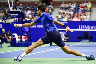 August 30, 2019, New York City, NY: Novak Djokovic in action during a match against Denis Kudla during the 2019 US Open Tennis Championships at the Billie Jean King National Tennis Center in New York, New York Friday, August 30, 2019. (Photo by Billie Weiss/US Open Tennis Championships)