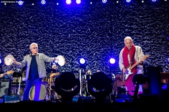 September 13, 2019 , Boston, MA: Roger Daltrey and Pete Townshend perform during a concert by The Who at Fenway Park in Boston, Massachusetts Friday, September 13, 2019. (Photo by Billie Weiss/Boston Red Sox)