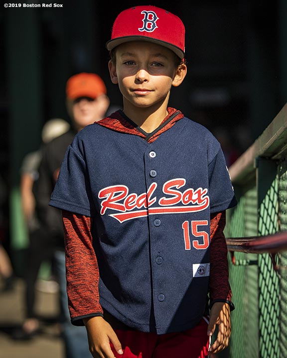 BOSTON, MA - SEPTEMBER 19: A young fan posesduring a game between the Boston Red Sox and the San Francisco Giants on September 19, 2019 at Fenway Park in Boston, Massachusetts. (Photo by Billie Weiss/Boston Red Sox/Getty Images) *** Local Caption ***